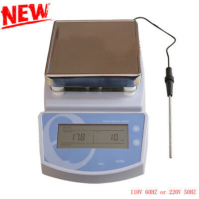 Digital Hot Plate Magnetic Stirrer Electric Heating Mixer max Temperature Steel