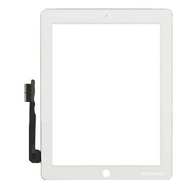 Best Touch Digitizer Screen Lens Replacement For iPad 3, iPad 4 Gen White +Tool