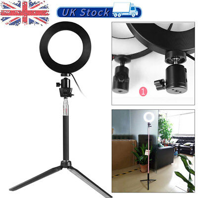 Dimmable Studio Camera Ring Lights Photo Phone Video Fill Lamp LED 3Modes Hot