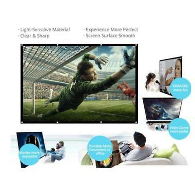"""120"""" 16: 9 Portable Foldable Projector Screen Home Theater Outdoor 3D Movies"""