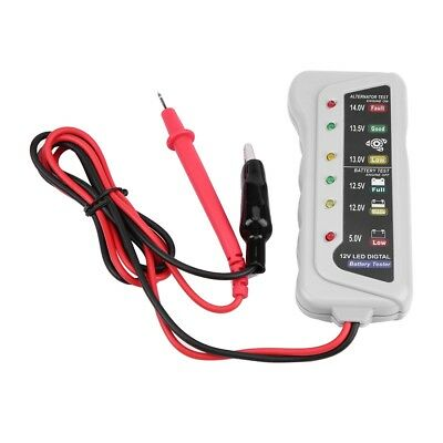12V Vehicle Battery System Tester Car Charging Test Analyzer Voltage Check Tool
