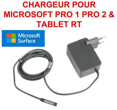 Chargeur Surface Microsoft Pro 1 Pro 2 & Tablet Rt 12V 3.6A Neuf Norme Ce