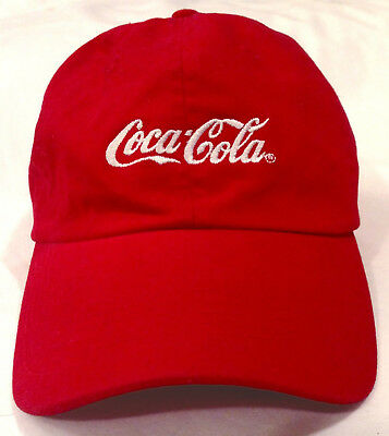 Coca Cola Coke Cap Hat Curved Visor Design Embroidered Sliding Size Adjustable