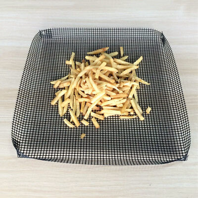 Large Cooking Mesh Net Non Stick Cooking Oven Chip Crisp Grill Baking Pizza Tray