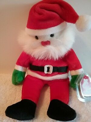 "TY Beanie Babies Santa Clause Plush Vintage 1998 Christmas Retired 9"" Tall NEW"