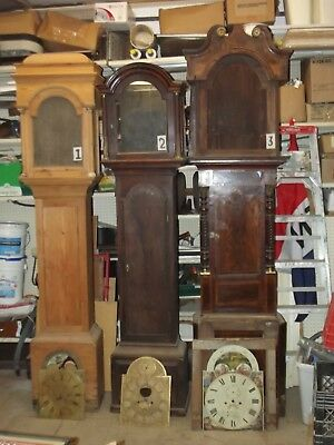 3 Antique Long case (Grandfather) Clocks (All need complete restoration)