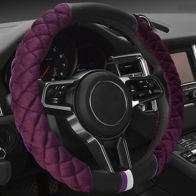 Universal 38cm Car Steering Wheel Cover Fashion Winter Plush Warm Fit Most Car