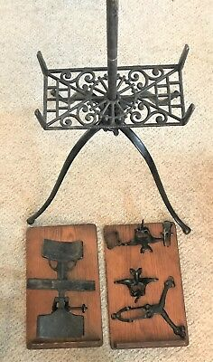 Antique Music Book Stand Lambie New York 1880's Cast Iron , Parts / Restoration