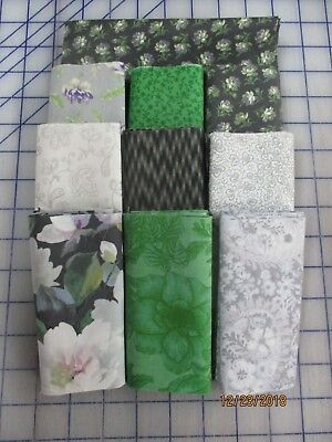 Awesome Floral In Gray & Blends Disappearing 9 Patch Quilt Top Kit