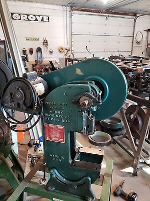 "5 Ton Havir Press Rite OBI Power Stamping Punch Press 1"" Stroke WITH A DIE SHOE"