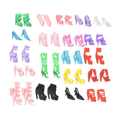 40 Pairs Doll Shoes Different High Heel Boots Dress Accessories For Barbie Doll