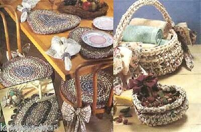 Rag crochet patterns: learn to make rag rugs, baskets, placemats, chairpads
