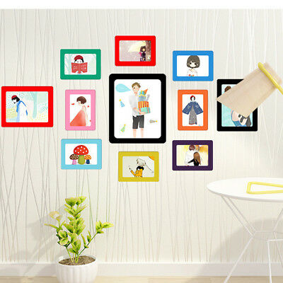 Colorful Magnetic Picture Frames 11.8*16cm Photo Magnet Photoframe Refrigerato L