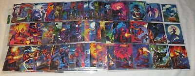 Trading Cards 1994 94 Marvel Masterpieces Set 1-140 Complete - in Sleeves