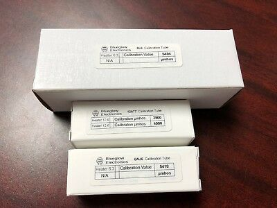 Tube Tester Calibration Tube Set in µmhos umhos - for Hickok, Heathkit, & Others