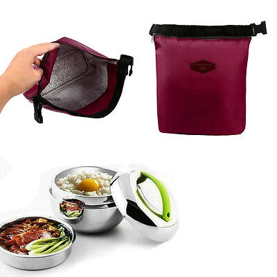Waterproof Thermal Cooler Insulated Lunch Box Portable Tote Storage Picnic Bag F
