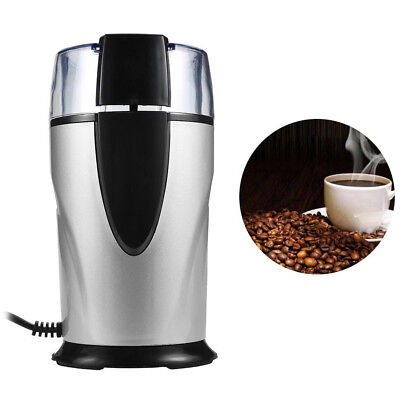 Home Coffee Grinder Electric Mill Beans Stainless Steel Kitchen Tools EU Plug