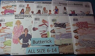 A Butterick ~ All Patterns are Size XS-S-M (6-14) ~ U-PICK ~ 26+ Listed  #5116