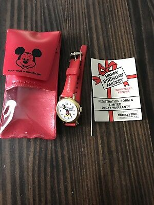 Happy Birthday Mickey Mouse Collectors Edition Watch Gift Set Nib