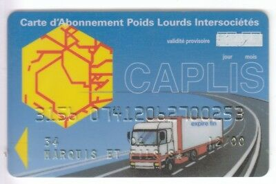 Carte / Card Station Oil Petrole .. France Camion Truck  +N° Perimee Magnetique