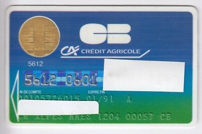 Carte / Card Banque Bank Credit .. Ancienne Old Cb Perime Cp8 Bull 89 Chip/puce