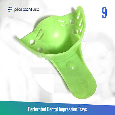 Autoclave Perforated Dental Impression Tray, #9 Anterior Upper (Bag of 12 Trays)