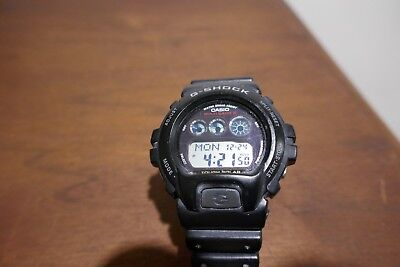 Casio G-Shock Men's Tough Solar Atomic Black Resin Band 50mm Watch GW6900-1 USED