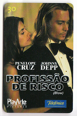Amerique  Telecarte / Phonecard .. Bresil 30R Cinema Movie Depp Cruz Magnetique