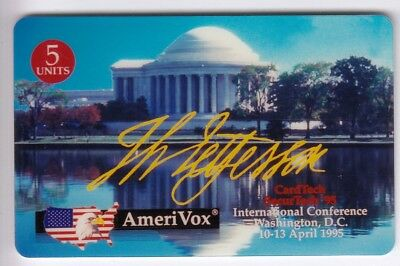 Amerique  Telecarte / Phonecard .. Usa 5$ Amerivox Jefferson 04/95 +N° Neuve