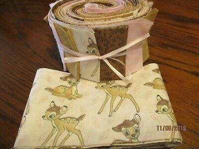 Adorable Bambi Baby Quilt Kit-Jelly Roll Fabric,Patt.