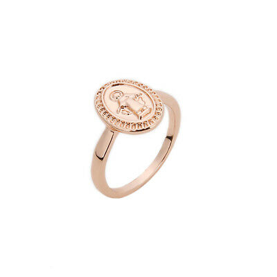 Women Vintage Virgin Mary Round Rings For Roman Religious Jewelry Gift BS