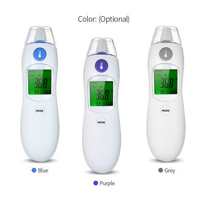 Digital IR Infrared Body Thermometer Forehead and Ear Thermometer for Baby P8U6