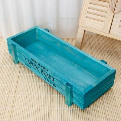 Rectangle Vintage Garden  Wood Flower Pot Planter Succulent  BoxTrough Plant Bed