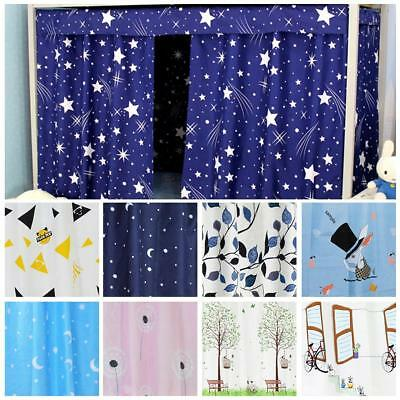 Dormitory Bunk Single Bed Tent Curtain Cloth Cover Dustproof Student School DQ