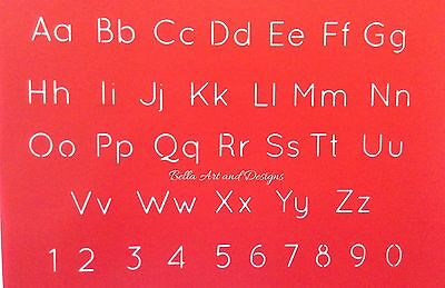 List 1 - Assorted Letter & Number Set Stencils (Small) - *Free Gift with  order*