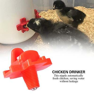 10Pcs Automatic Water Nipple Drinker Chicken Feeder Poultry Waterer Feeders