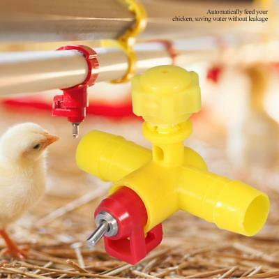 10Pcs Water Nipple Drinker Chicken Feeder Poultry Automatic Waterer Feeders