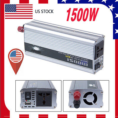 NEW 1500W 12v DC TO 110v AC car truck automotive POWER INVERTER Converter TO