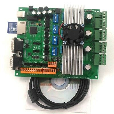 USB 4 Axis TB6600 Stepper Motor Controller CNC Breakout Board kit For CNC od34