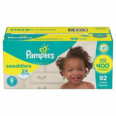 Pampers Swaddlers Diapers (Choose Your Size)  92 to 192  diapers per pack