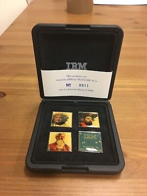 Limited edition IBM pinbacks issued for Telecom '95.