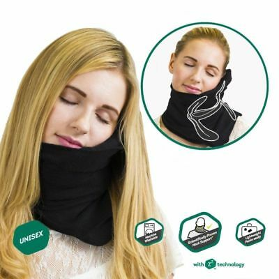 Airplane Travel Sleep-Scientifically Super Soft Pillow Support Proven Neck Gray