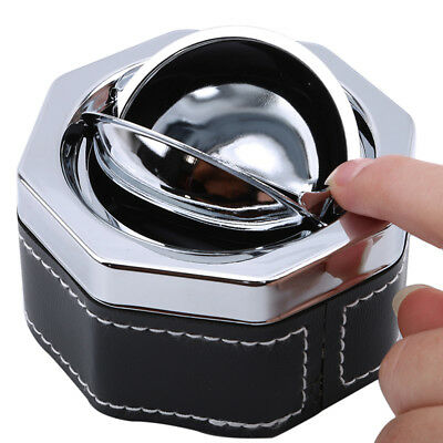 Travel Portable Car Cigarette Smokeless Metal Ashtray Holder With Lid BS