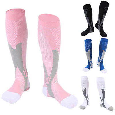 Paires Unisexe Chaussettes Compression Football Sports Courses Gym Respirable