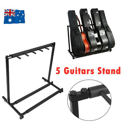 5 Guitars Guitar Stand Tidy Storage Rack Display Metal Padded Foam 3 Acoustic AU