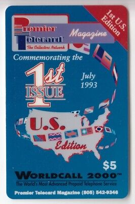Amerique  Telecarte / Phonecard .. Usa 5$ World Call Magazine Fair 93 +N°/neuve