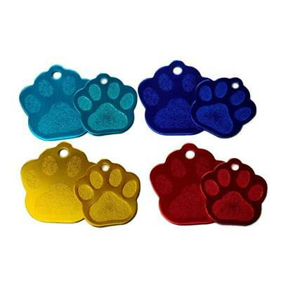 20pcs Paw Shape 2 Sides Tag pet dogs and cats ID Cat Puppy Name Phone ID Tags b