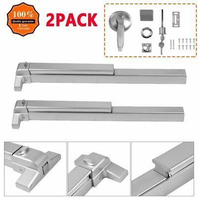 """(2Pack) 65cm Door Push Bar with Exterior Lever Fits Doors 28"""" to 36"""" Wide FA"""