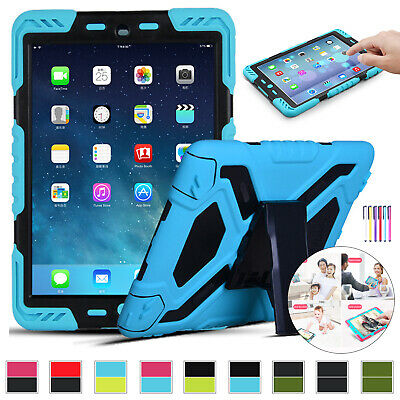 Kids Heavy Duty Hybrid Stand Tough Case Cover For iPad 9.7 2018 6th Gen 2017 5th