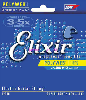 1 PC  12000 Electric Guitar Strings Super Light POLYWEB Coating 9-42